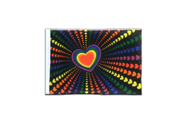 Fanion rectangulaire Arc en Ciel Amour - 10 x 15 cm