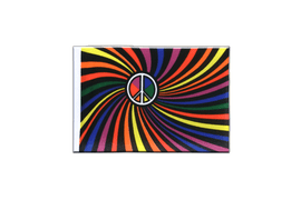 Fanion rectangulaire Arc en Ciel Peace Swirl - 10 x 15 cm