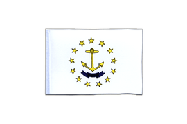 Rhode Island - Mini Flag 4x6""