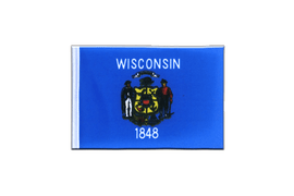 Wisconsin - Mini Flag 4x6""
