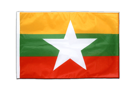 Myanmar new - Sleeved Flag PRO 2x3 ft