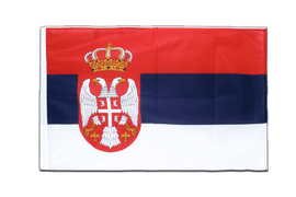 Serbia with crest - Sleeved Flag PRO 2x3 ft
