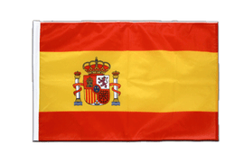 Spain with crest - Sleeved Flag PRO 2x3 ft