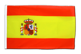 Spain with crest - Sleeved Flag ECO 2x3 ft