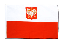 Poland with eagle - Sleeved Flag ECO 2x3 ft