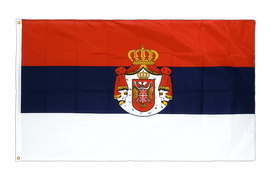 Serbia with crest - Premium Flag 3x5 ft CV