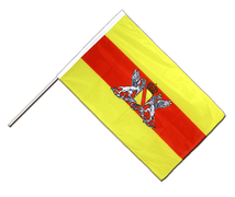 Baden with crest - Hand Waving Flag PRO 2x3 ft