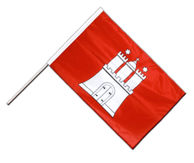 Hamburg - Hand Waving Flag PRO 2x3 ft