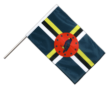 Dominica - Hand Waving Flag PRO 2x3 ft