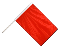 Red - Hand Waving Flag PRO 2x3 ft