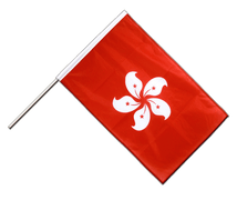 Hong Kong - Hand Waving Flag PRO 2x3 ft