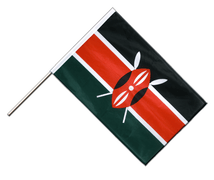 Kenya - Hand Waving Flag PRO 2x3 ft