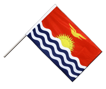 Kiribati - Hand Waving Flag PRO 2x3 ft