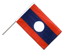 Laos - Hand Waving Flag PRO 2x3 ft