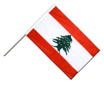 Lebanon - Hand Waving Flag PRO 2x3 ft