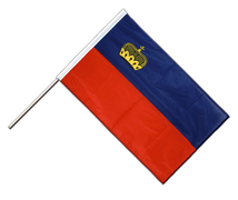 Hand Waving Flag PRO Liechtenstein - 2x3 ft
