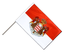 Monaco - Hand Waving Flag PRO 2x3 ft