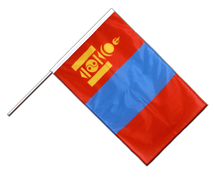 Mongolia Hand Waving Flag PRO - 2x3 ft