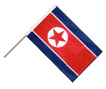 North corea Hand Waving Flag PRO - 2x3 ft