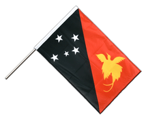 Hand Waving Flag PRO Papua New Guinea - 2x3 ft