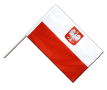 Poland with eagle - Hand Waving Flag PRO 2x3 ft