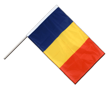 Rumania Hand Waving Flag PRO - 2x3 ft