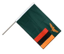 Zambia - Hand Waving Flag PRO 2x3 ft