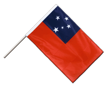 Samoa - Hand Waving Flag PRO 2x3 ft