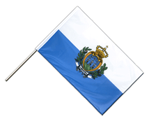 San Marino - Hand Waving Flag PRO 2x3 ft