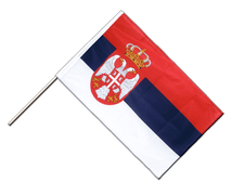 Serbia with crest - Hand Waving Flag PRO 2x3 ft