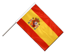 Spain with crest Hand Waving Flag PRO - 2x3 ft