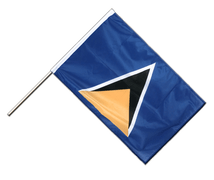 Stockflagge PRO St. Lucia - 60 x 90 cm