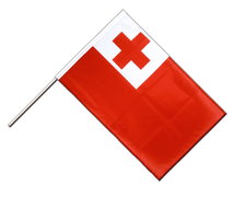 Tonga - Hand Waving Flag PRO 2x3 ft