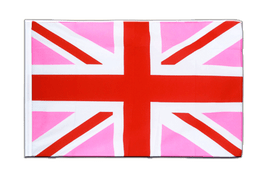 Union Jack pink - Sleeved Flag ECO 2x3 ft