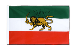 Iran Shahzeit Sleeved Flag ECO - 2x3 ft