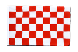 Pavillon Damier Rouge-Blanc Fourreau ECO - 60 x 90 cm