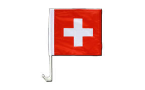 Car Flag Switzerland - 12x12""