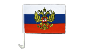 Russia with crest - Car Flag 12x16""