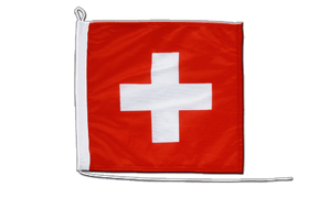 Switzerland - Boat Flag 12x12""