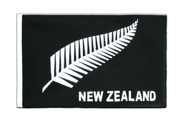New Zealand feather all blacks - Sleeved Flag ECO 2x3 ft