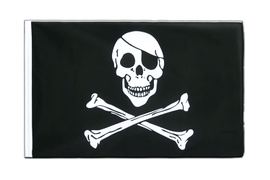 Pirat Skull and Bones - Hohlsaum Flagge ECO 60 x 90 cm