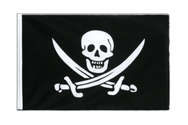Pirate with two swords - Sleeved Flag ECO 2x3 ft