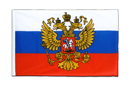 Russia with crest - Sleeved Flag ECO 2x3 ft