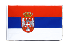 Serbia with crest - Sleeved Flag ECO 2x3 ft
