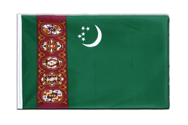 Turkmenistan Sleeved Flag ECO - 2x3 ft
