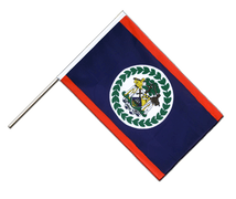 Belize - Hand Waving Flag ECO 2x3 ft