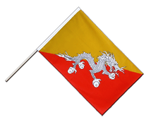 Hand Waving Flag ECO Bhutan - 2x3 ft