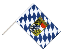 Bayern mit Wappen - Stockflagge ECO 60 x 90 cm
