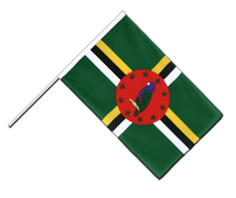 Dominica - Hand Waving Flag ECO 2x3 ft