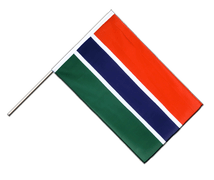 Gambia Hand Waver Flag ECO - 2x3 ft